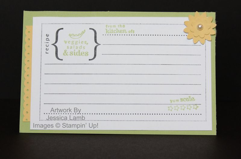 Recipe card using the From the Kichen of stamp set