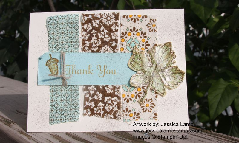 Spice cake fabric card