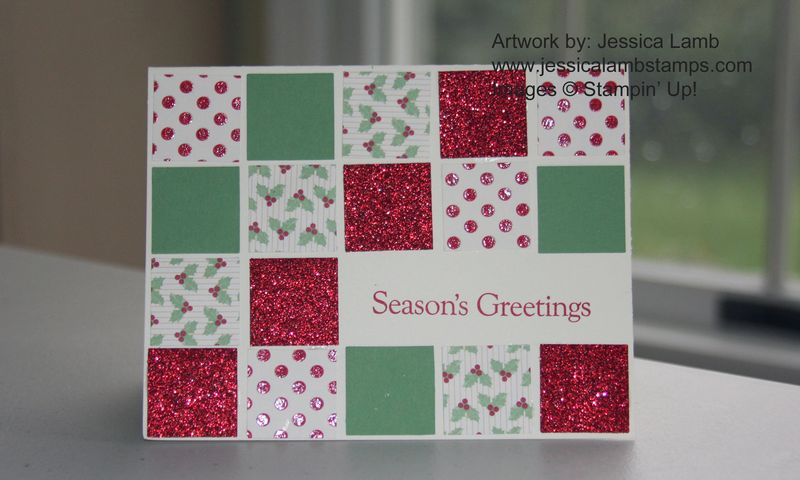 Christmas in July card class sneak peak sample