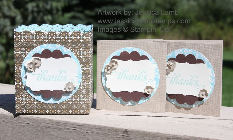 Spice cake bag and card set