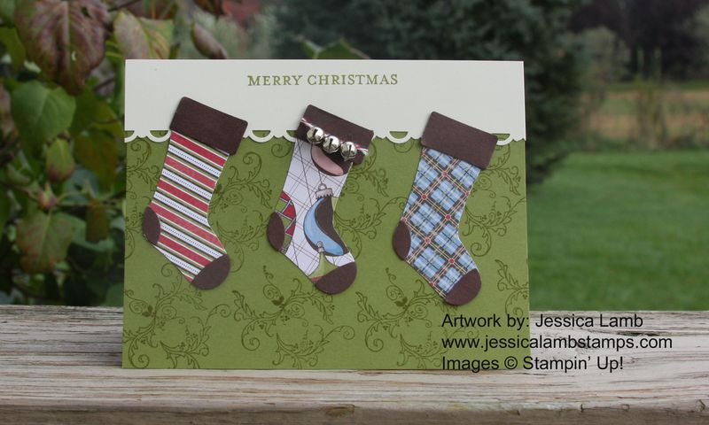 Stocking builder jingle bell card