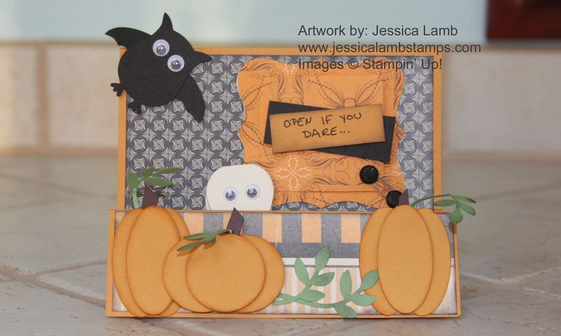 Halloween accordion fold card