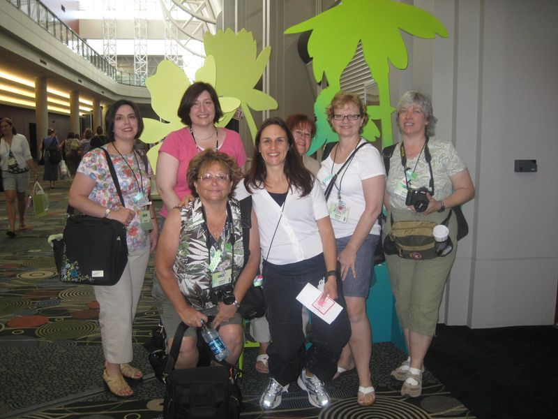 At the Stampin' Up! convention gathering place
