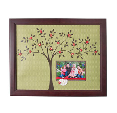 Family Tree picture frame using Decor Elements