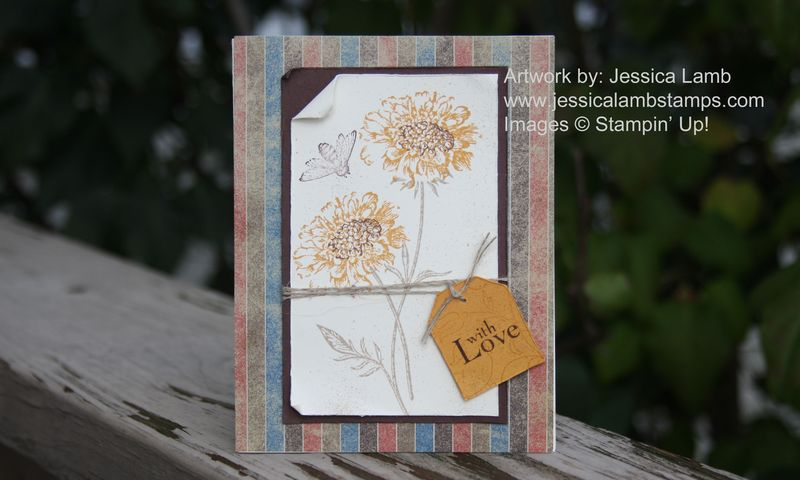 Field Flowers card sample