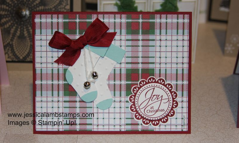 Stocking builder punch Christmas card sample