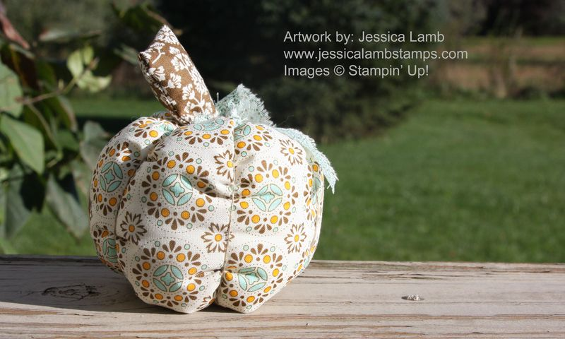 Spice cake fabric pumpkin