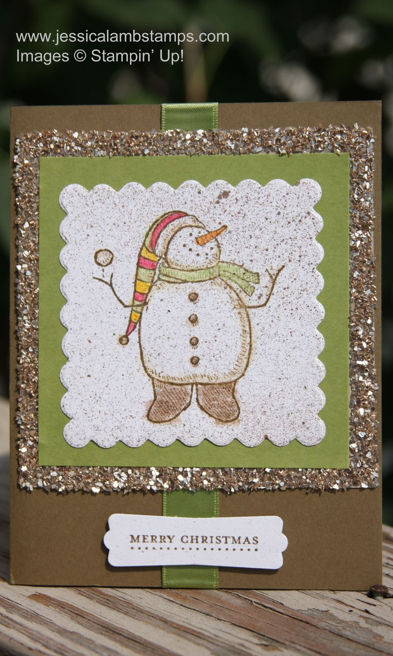 Snow much fun glitter Christmas card