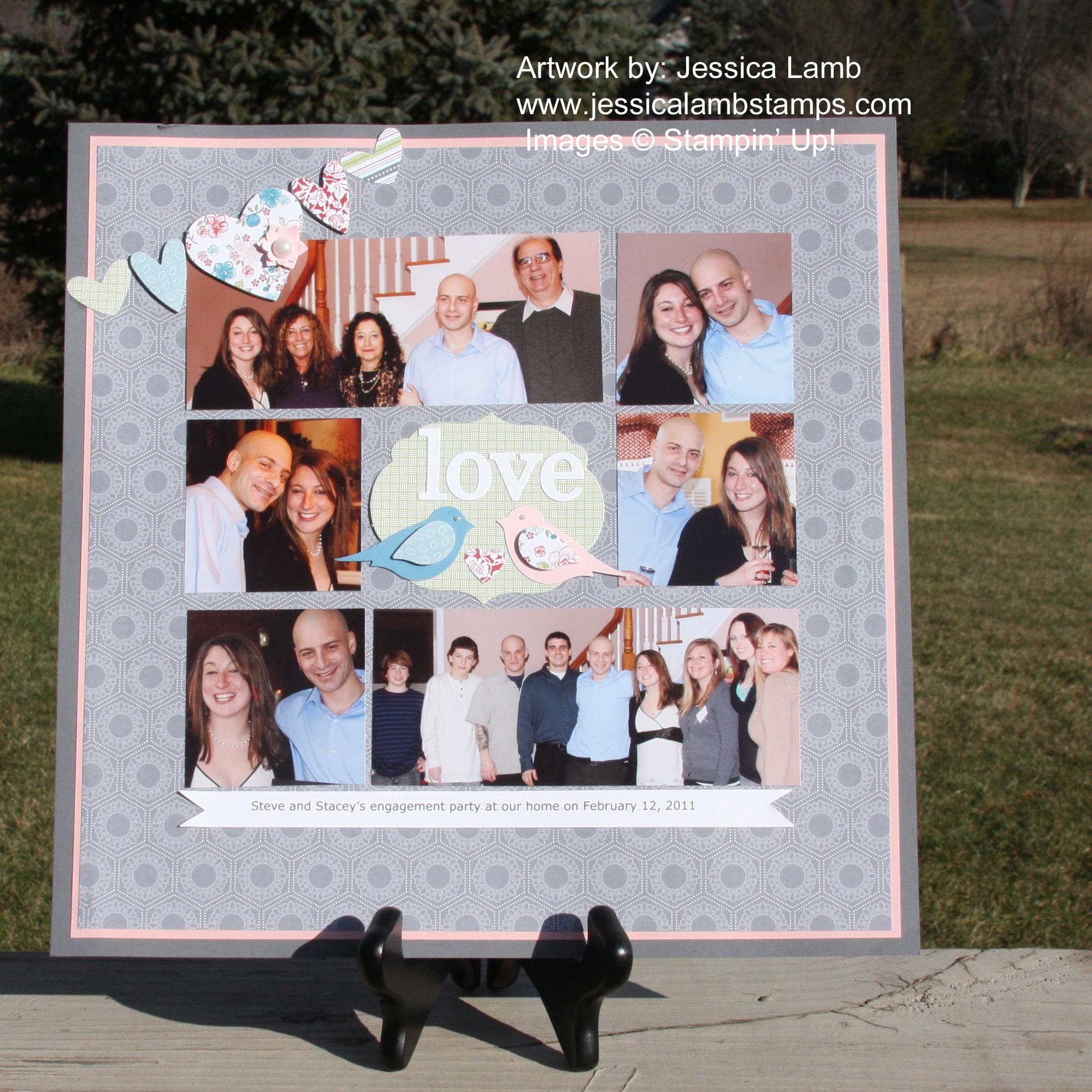 Scrapbook ideas engagement - Love Birds Twitterpated 12x12 Scrapbook Layout