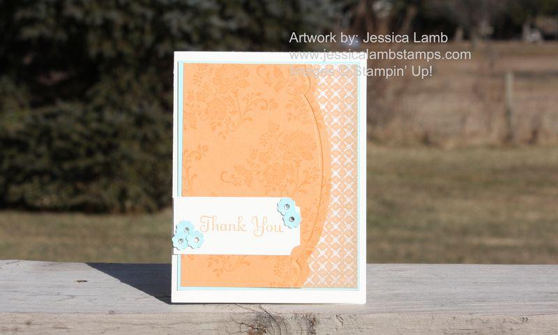 Fresh Vintage thank you card