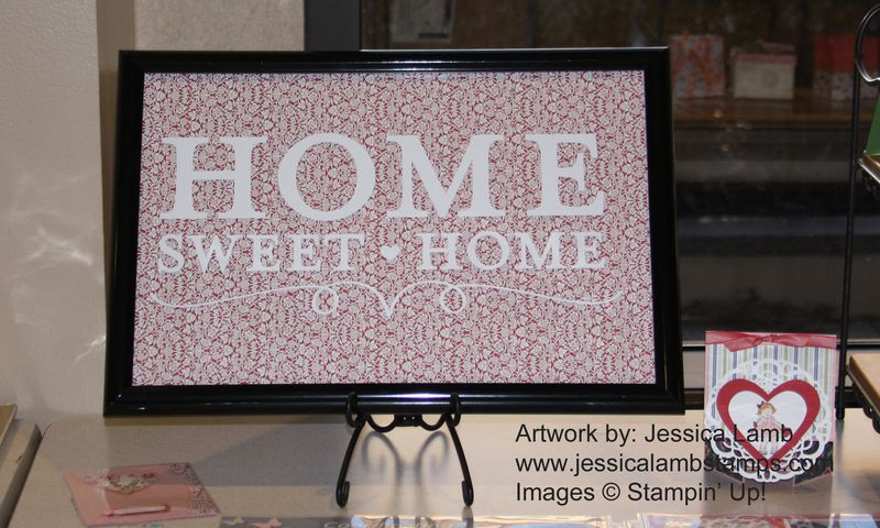 Home sweet home altered frame