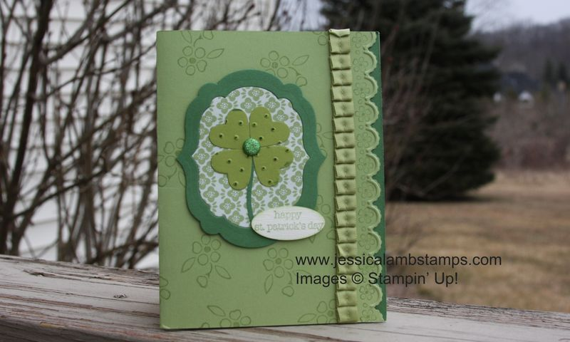 Shamrock swap card