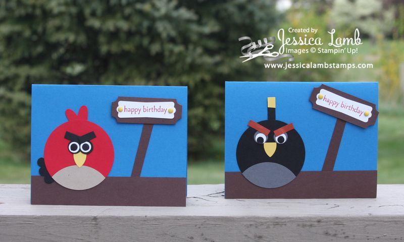 Angry bird birthday cards