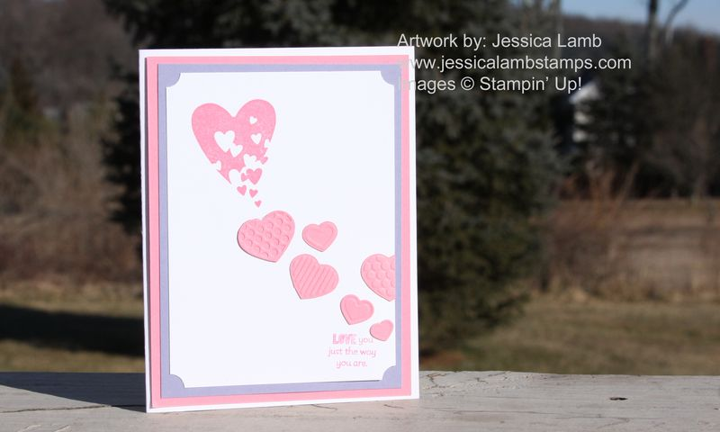 Spinkled expression Valentine card