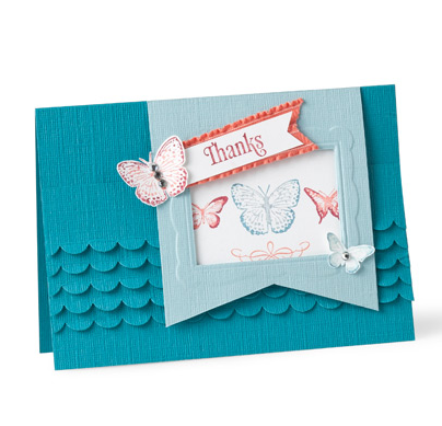 Ruffled thanks card
