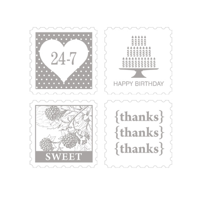 Pretty postage stamp set