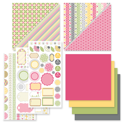 Spring fever scrappin kit