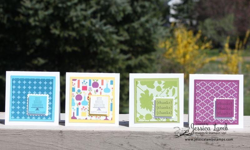 Summer smooches 3x3 card set