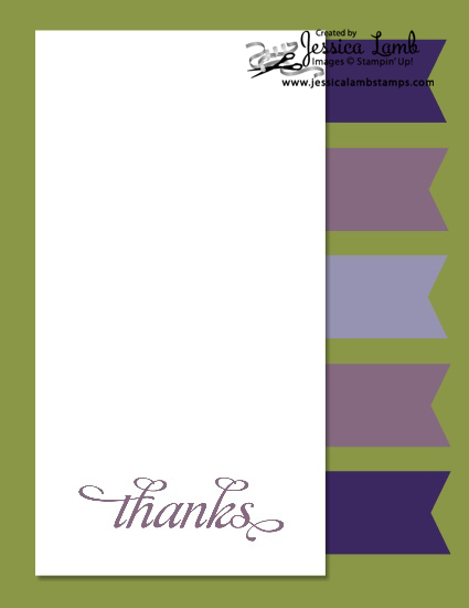 Color combo thank you card