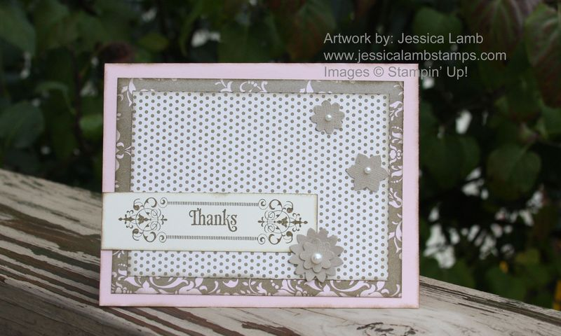 Beau chateau thank you card