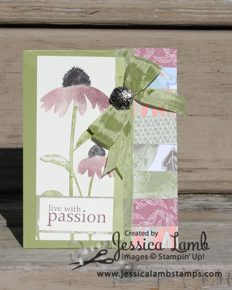 Inspired by nature paisley petals card