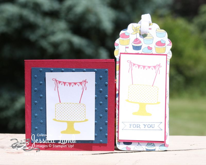 Make a cake gift tag and card