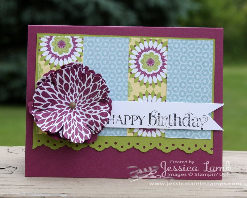 Floral district birthday card