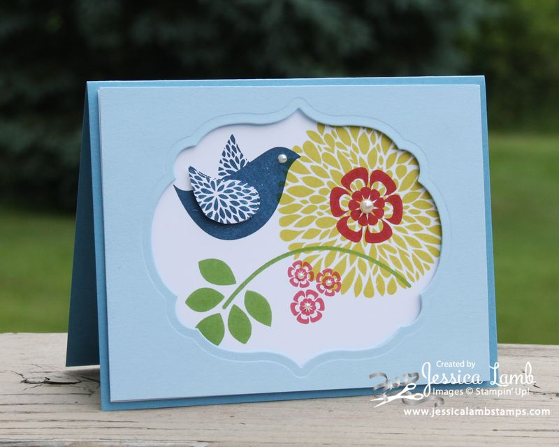 Betsy's Blossom shadow box card