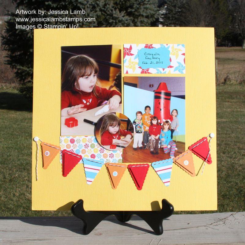 Big Top Birthday 12x12 scrapbook page
