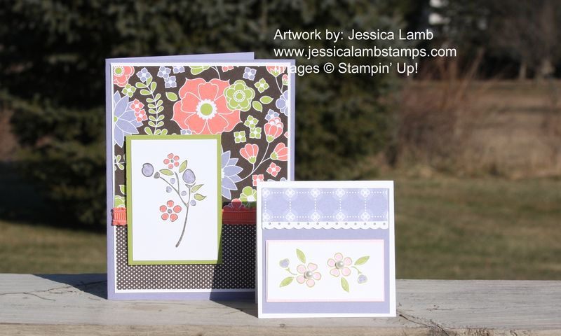 Bordering on Romance Berry Blossom cards
