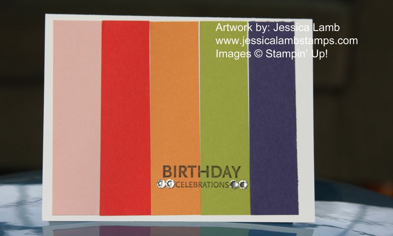 Birthday color spectrum card