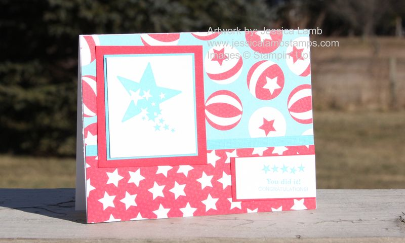 Sprinkled expression congratulations card