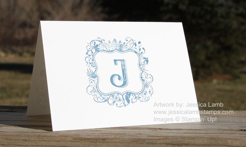 Everyday elegance monogram card