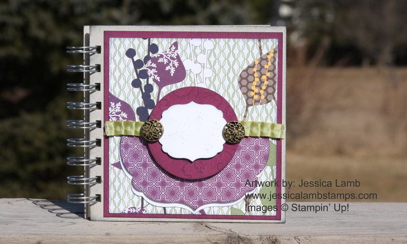 Pocketful of posies mini scrapbook