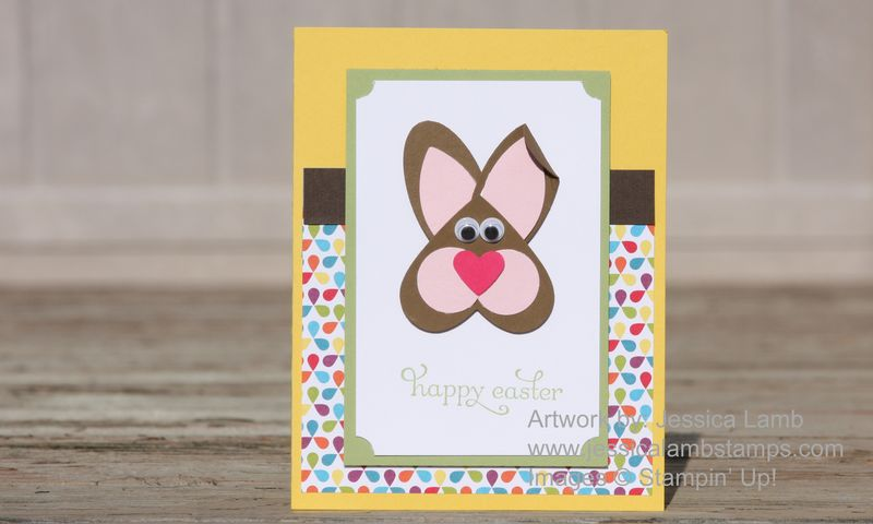 Punch art bunny card