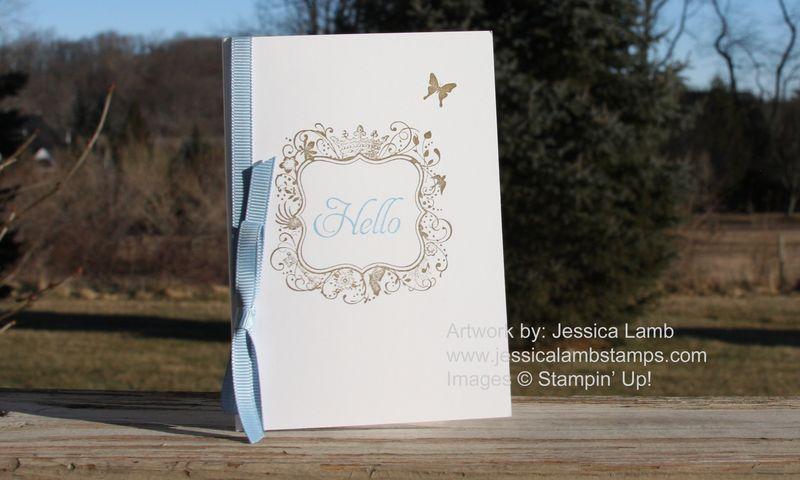 Everyday elegance hello card