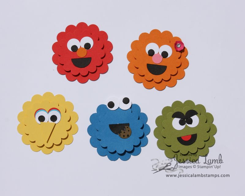 Punch art sesame street characters