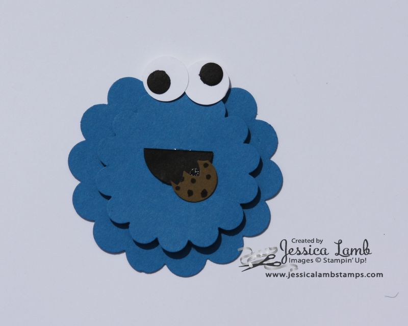 Punch art cookie monster