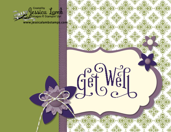 Color combo get well card