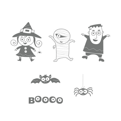 Googly ghouls stamp set