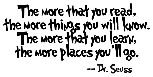 Dr seuss quote reading